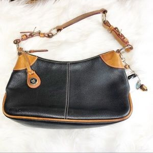 Dooney & Bourke Black Pebbled Leather Shoulder Bag